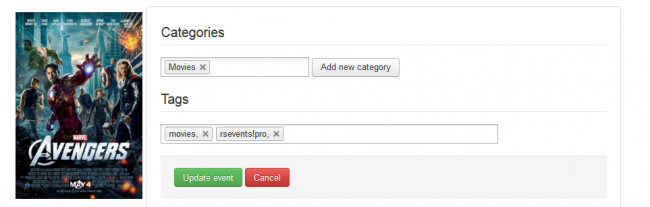 Nested categories and tags